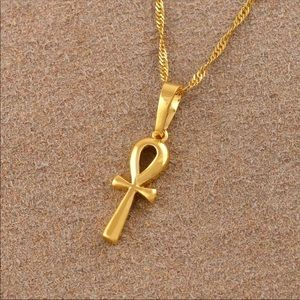 Jewelry - new 18k gold plated Ankh Pendant Necklace women